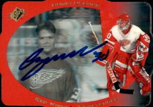 Chris Osgood Signed 1996/97 Upper Deck SPX Card #15 Detroit Red Wings