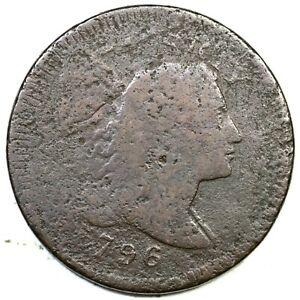 1796 Liberty Cap Large Cent Coin 1c