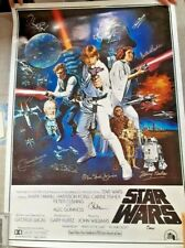 Star Wars - A New Hope Limited Edition 11 Cast Signed Original Poster With COA