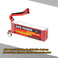 HPB 11.1V 2200mAh 25C 3S T Plug Li-po Battery for RC Car FPV Drone US STOCK F3X0