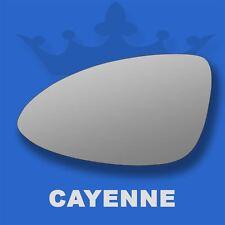 Porsche Cayenne 10-17 Flat Wing Door Mirror Glass For Left Passenger Side