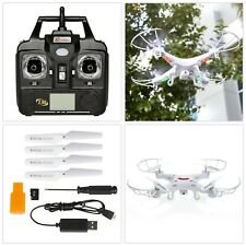 Flying Drone with Camera Kids Toy Remote Control Quad Copter LED Lights 4GB Card