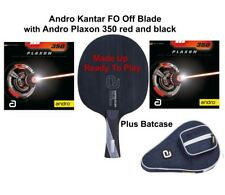 Table Tennis Bat: Andro Kantar FO Off Blade with Andro Plaxon 350 Rubbers + Case