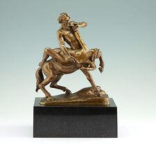 Gotthilf Jaeger Kentaur Nessos entführt Deianeira Bronze 1900 Sculpture Statue