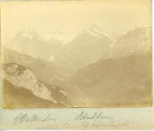 Suisse, Alpes bernoises, Wetterhorn et Schreckhorn, ca.1900, vintage citrate pri