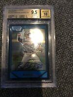 2007 Bowman Chrome Prospects EMMANUEL BURRISS  Rookie RC BGS 9.5 Auto 10 Giants
