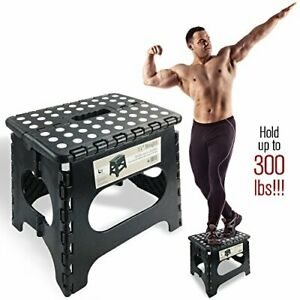 """Super Strong Folding Step Stool - 11"""" Height - Holds up to 300 Lb - The"""