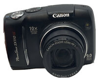 Canon PowerShot SX110 IS 9.0MP Digital Camera - Black. Works