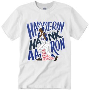 Hank Aaron Atlanta Braves MLB Legend Never Die 1934-2021 Unisex S-3XL T-Shirt