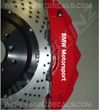 Bmw Motorsport Premium Pinza de freno Calcomanías Stickers 1 3 5 Serie M3 M5 Z3 Z4 M1