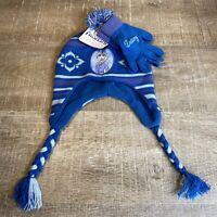 NWT Disney Girls Frozen 2 Elsa Winter Beanie Hat and Gloves Set Youth