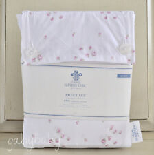 Rachel Ashwell Simply Shabby Chic Pink Rosebud Sprinkles White QUEEN Sheet Set