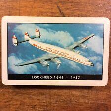 TWA Lockheed 1649 Poker Bridge Playing CARDS SET Used/Played Vtg 1957 DECK / BOX