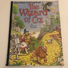 Vintage The Wizard Of Oz Giant Coloring Story Book 1980 RARE! NEW!!