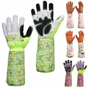 Long Sleeve Gardening Gloves Puncture Protection Breathable Garden Working Glove
