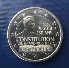 Pièces de 2 euros du Luxembourg année 2018