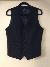 "HAMMOND & CO Size 38"" Chest Dark Brown Wool Blend Waistcoat Sleeveless Jacket"