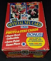 1989 PRO SET NFL FOOTBALL SERIES 1 - Full BOX of 36 FACTORY SEALED PACKS RC HOF
