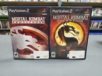 Mortal Kombat Armageddon & Deception Lot Playstation 2 PS2 Complete -- S2G --