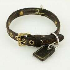 Auth LOUIS VUITTON COLLIER BAXTER PM Monogram Dog Collar M58072 Brown