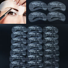 24xLady brow Grooming Make-Up DIY Eyebrow Shaping Stencil Template Tool US Stock
