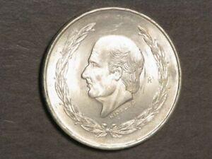 MEXICO 1953 5 Pesos Hidalgo Silver Crown BU