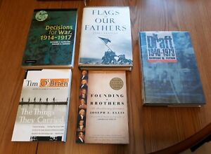 Lot of 5 American History War books Nonfiction  The Draft, Vietnam, WW1 Military