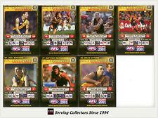 2001 Teamcoach Trading Cards Base Team set Richmond (7 )
