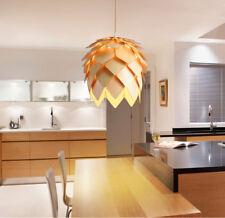 Modern Art OAK Wooden Pinecone Pendant Light Hanging Wood Artichoke Ceiling Lamp