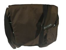 Marmot Pilot Crossbody Laptop Computer Messenger Bag Blye/Brown