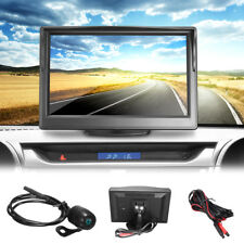 """Car Backup Camera Rear View Night Vision Reversing Cam & 5"""" TFT LCD Monitor Kit"""