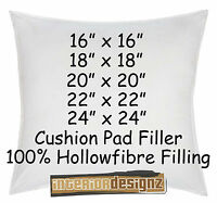 """CUSHION INNER PADS FILLERS INSERTS 100% Hollowfibre Filling 16"""" 18"""" 20"""" 22"""" 24"""""""