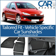 Peugeot 206 3dr 98-06 UV CAR SHADES WINDOW SUN BLINDS PRIVACY GLASS TINT BLACK