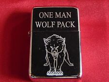 One Man Wolf Pack Engraved / Impact Printed Fuel STAR Lighter With Gift Box