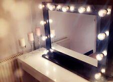 HERA VANITY: Hollywood Vanità Specchio con Luci (Nero) - 860mm x 690mm