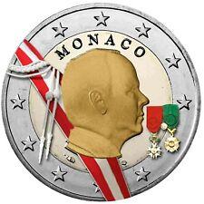 Monaco 2 Euro 2009 Fürst Albert II Grimaldi Gedenkmünze in Farbe