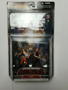 Luke Skywalker und Mara Jade Figur 2-Pack Star Wars Comic Packs 2007 Hasbro NEU