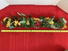 Home Interiors - Red and Yellow Flower Swag Decor