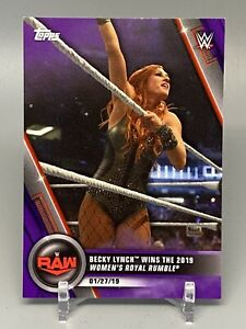 2020 Topps WWE Women's Division SP Becky Lynch 35/99 Purple #10