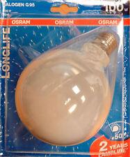 OSRAM HALÓGENO Lámpara de globo G95 LONGLIFE E27 100W 230V Ópalo /blanco
