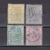 GOLD COAST 1876, Sg# 4-7, CV £66, wmk Crown CC, Used