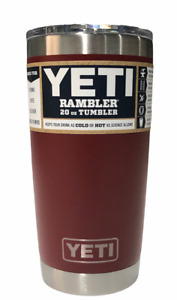 Yeti Rambler 20oz Tumbler Stainless Steel Insulate With Mag Slider Lid Brick Red