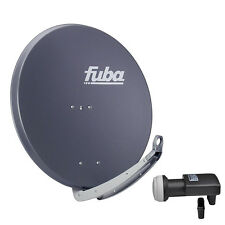 FUBA DAA 850 A + SHARP Quad LNB SAT Spiegel Schüssel anthrazit Alu Antenne 85 cm