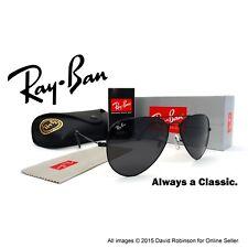 RayBan Sunglasses Aviator Black Frames Classic Grey Lenses RB3025 58mm