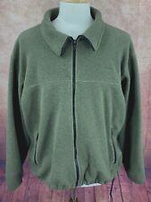 Cabela's Polartec USA Made Fleece Full Zip Jacket Dark Green Men's Large