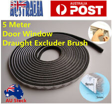 5M Adhesive Draught Excluder Brush Strip Weather Proof Window Door Seal Tape AU