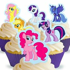 Cakeshop 12 x PRE-CUT My Little Pony Stand Up Edible Cake Toppers