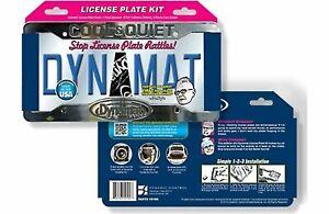 Dynamat Xtreme 19100 License Plate Kit Sound Dampening w/ Frame
