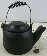 Antique Cast Iron Griswold Miniature Sample Teapot Cross Logo