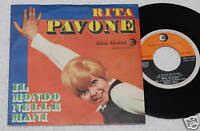 """RITA PAVONE:7""""-IL BALLO DELL'ORSO-ORIGINALE 1968"""